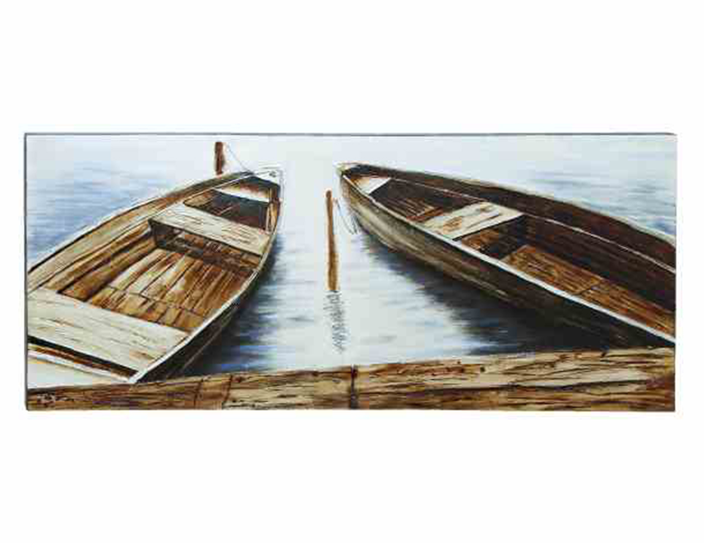 "Row Boats Canvas Art 71""W x 32""H"