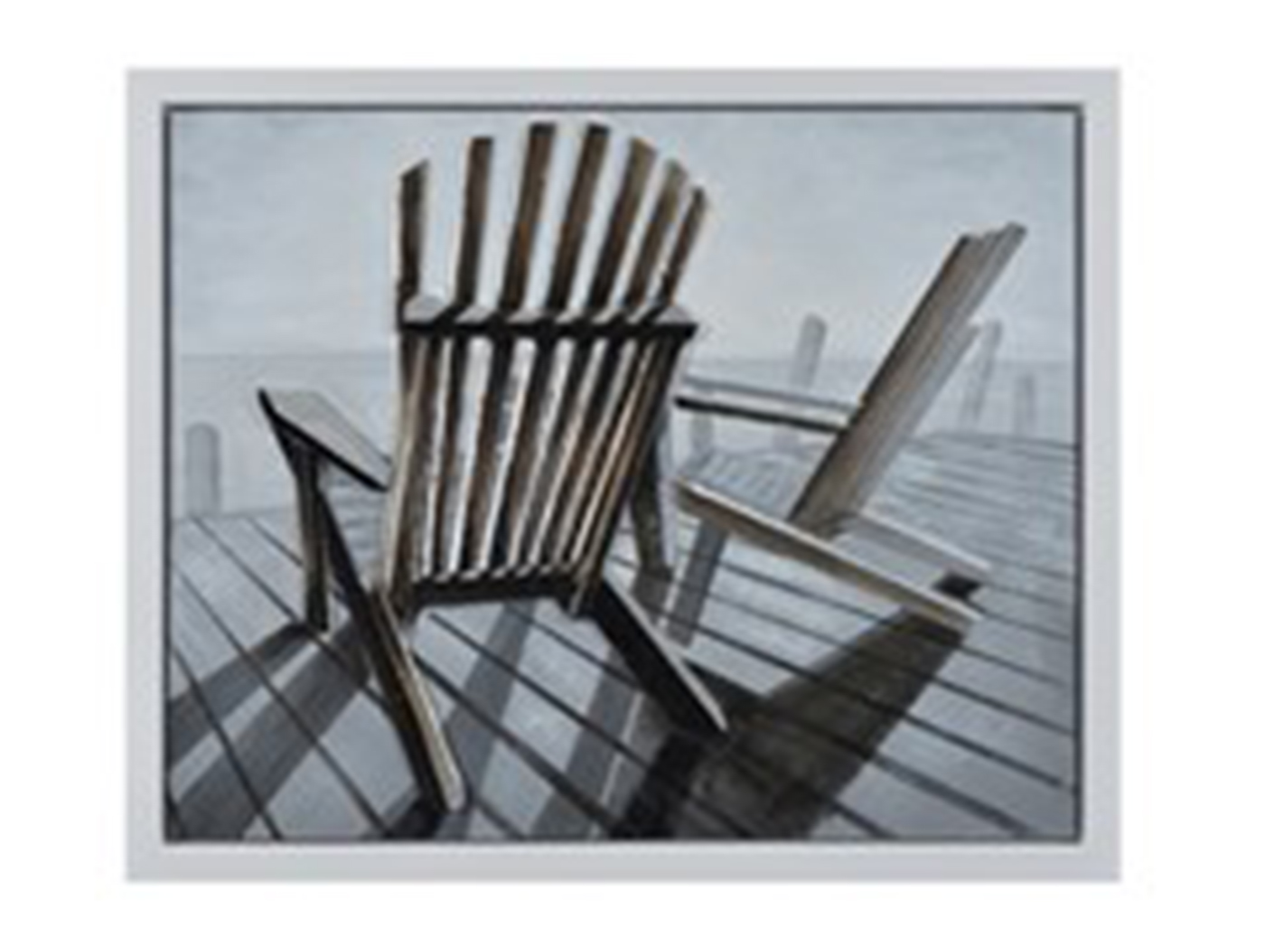 "Chairs on the Pier Canvas Art 50""W x 40""H"