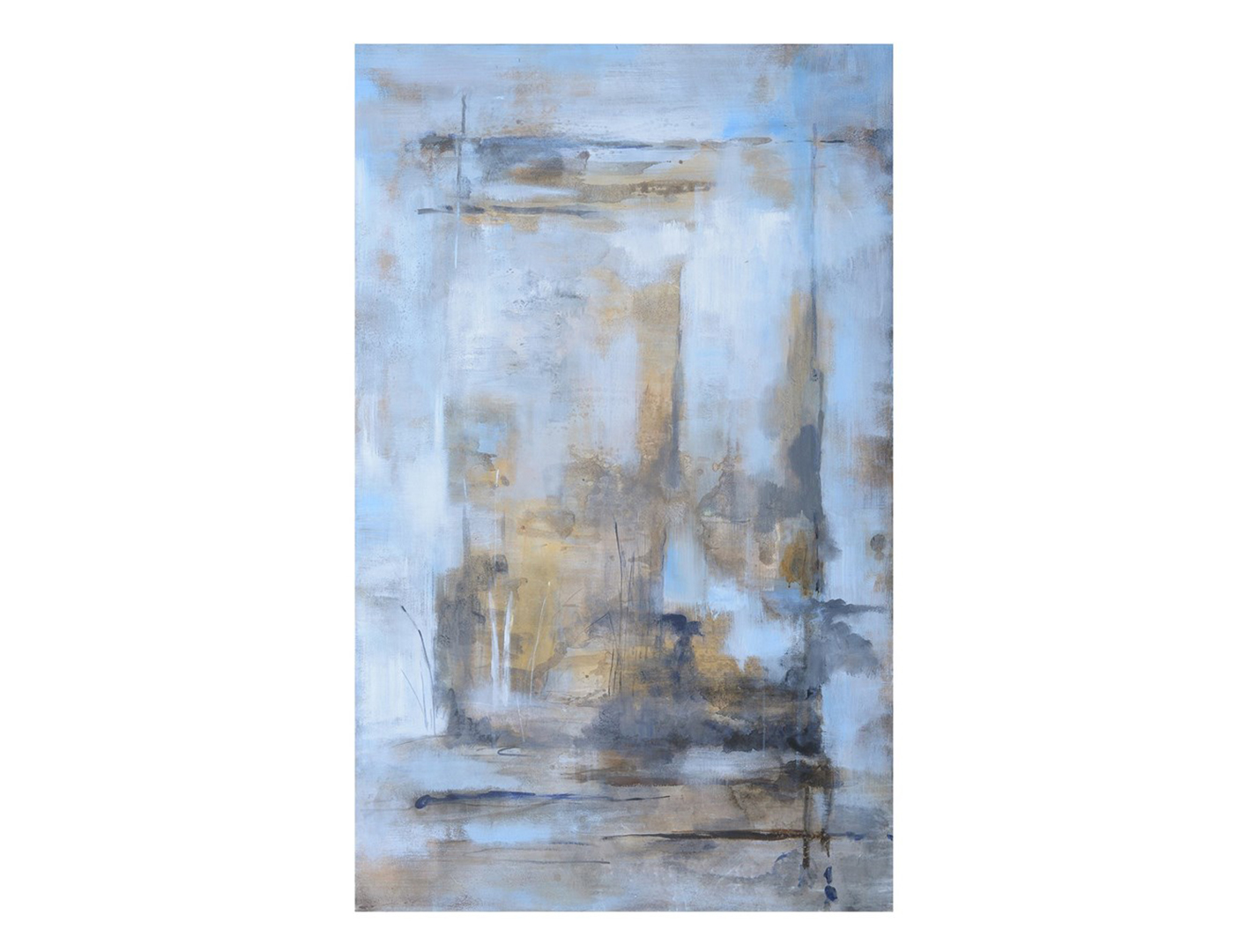 Blue and Grey Abstract Wall Art