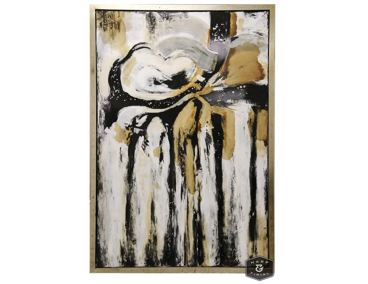 "Abstract Canvas Art 48""W x 72""H"