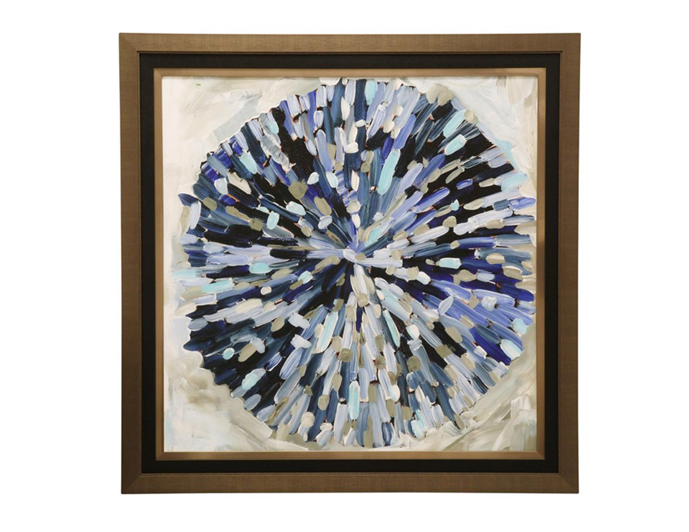 "Burst of Blues Framed Print 51""W x 51""L"