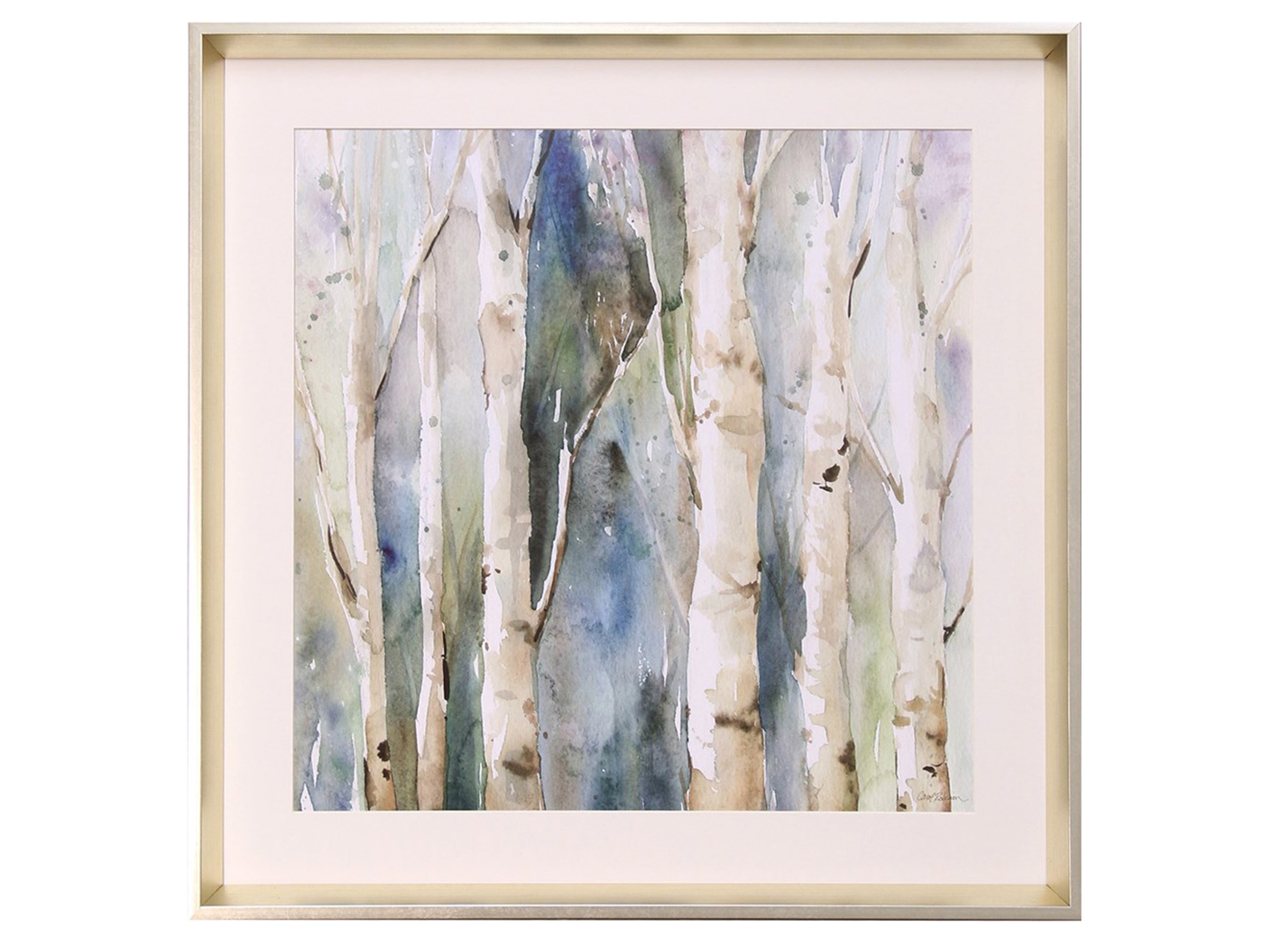 "Birch Trees Framed Print II 26""W x 26""H"