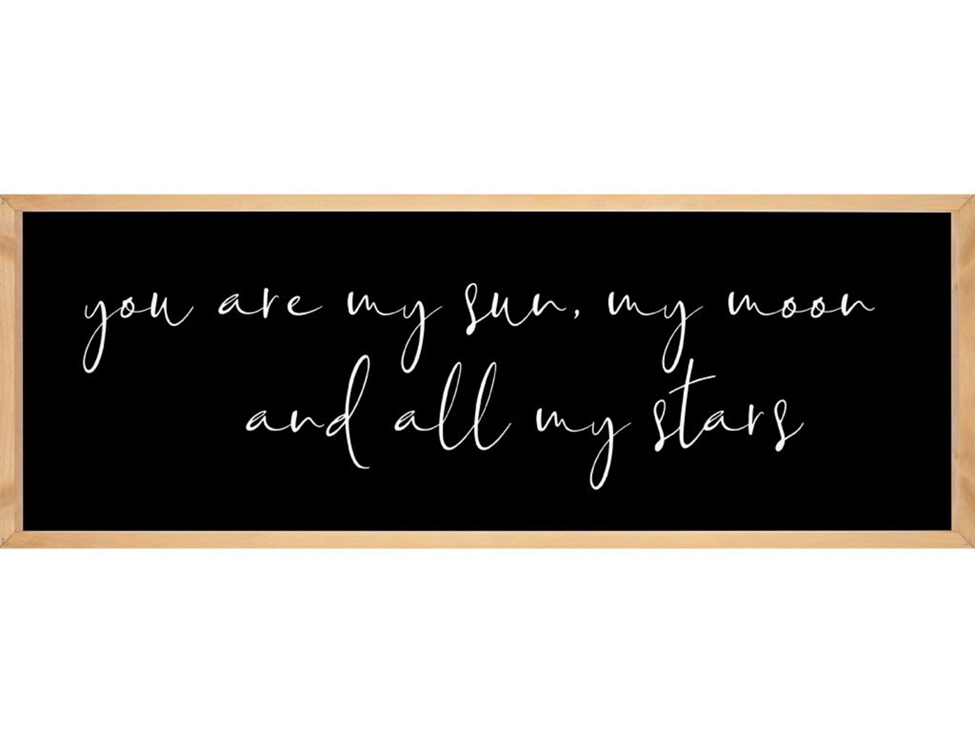 "You Are My Sun Framed Print 45.75""W x 16.75""H"