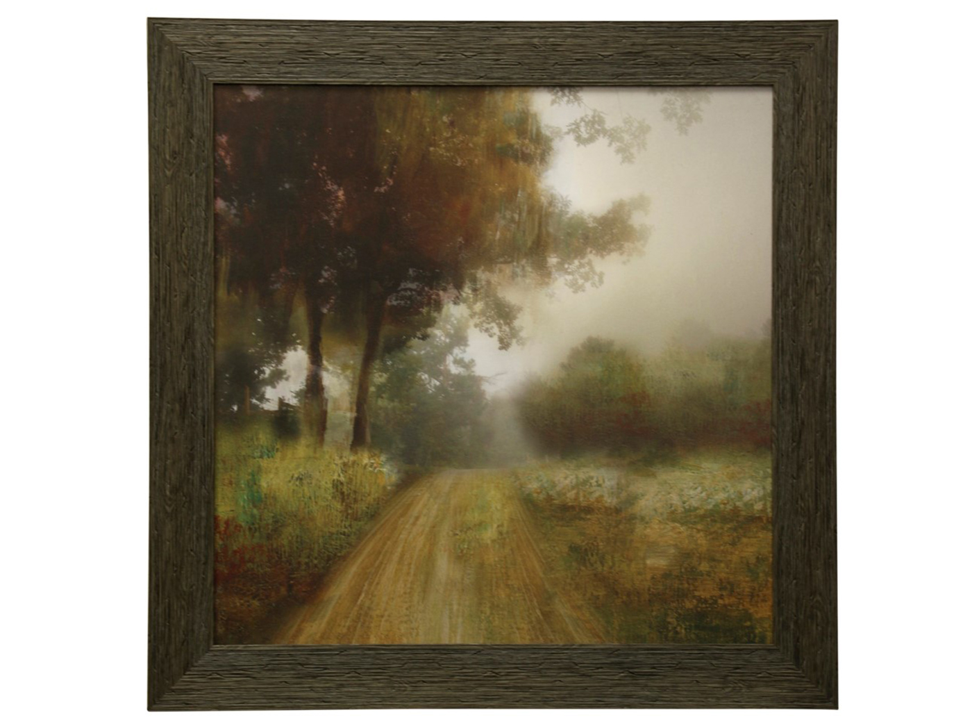 "Country Road Textured Framed Print 43""W x 43""H"