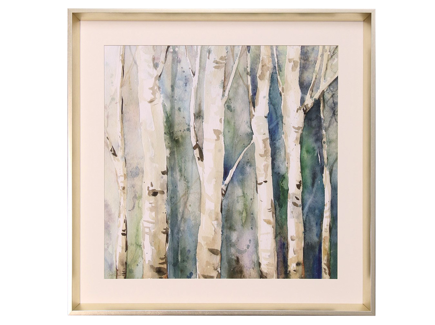 "Birch Trees Framed Print I 26""W x 26""H"