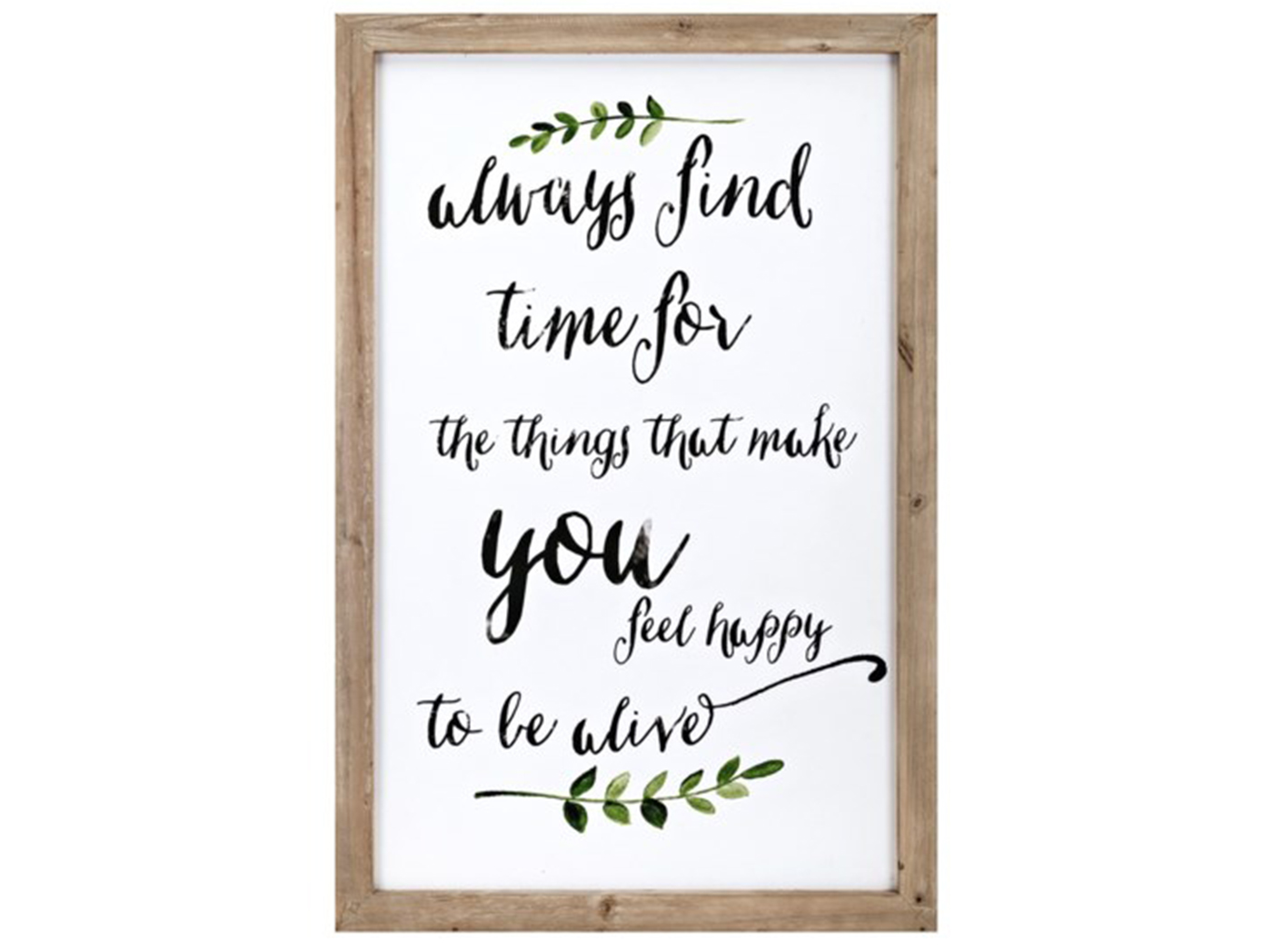 "Happy To Be Alive Wall Decor 24""W x 36""H"