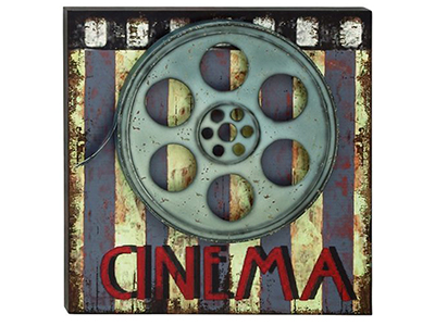 "Cinema Movie Plaque 20""W x 20""H"