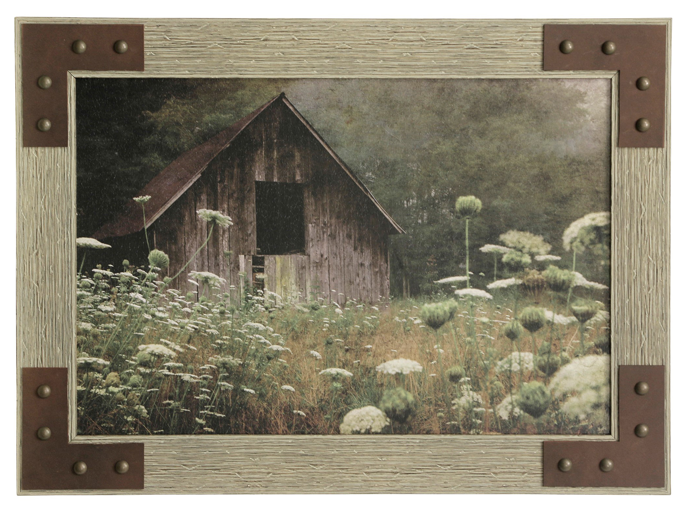 "Barn Amongst the Lace Framed Art 43""W x 31""H"