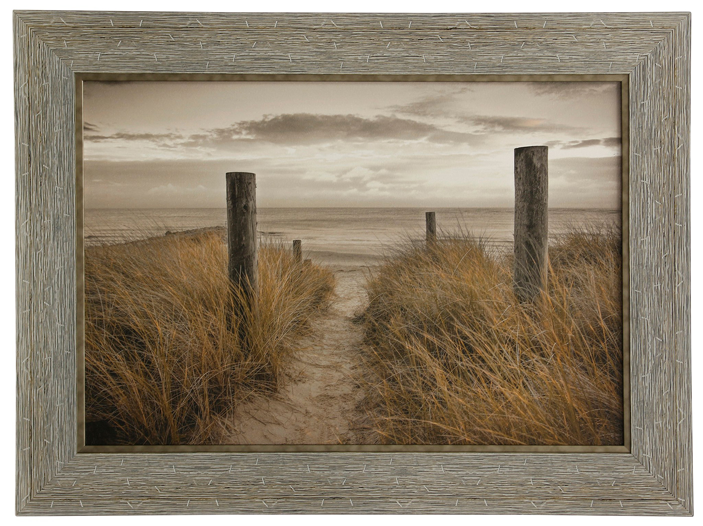 "Beach Day Framed Wall Art 33""W x 45""H"