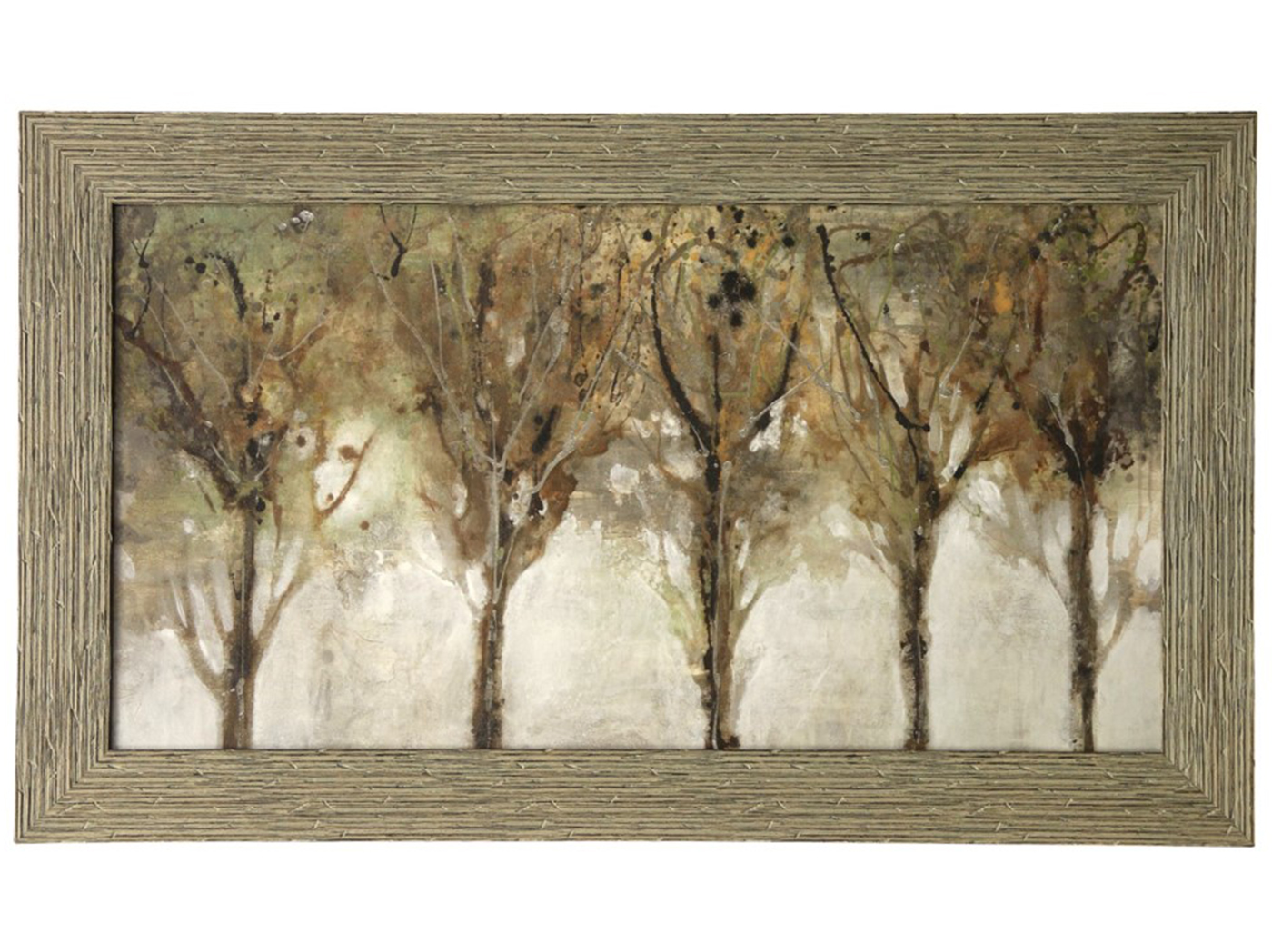"Tree Line Textured Framed Print 54""W x3 2""H"