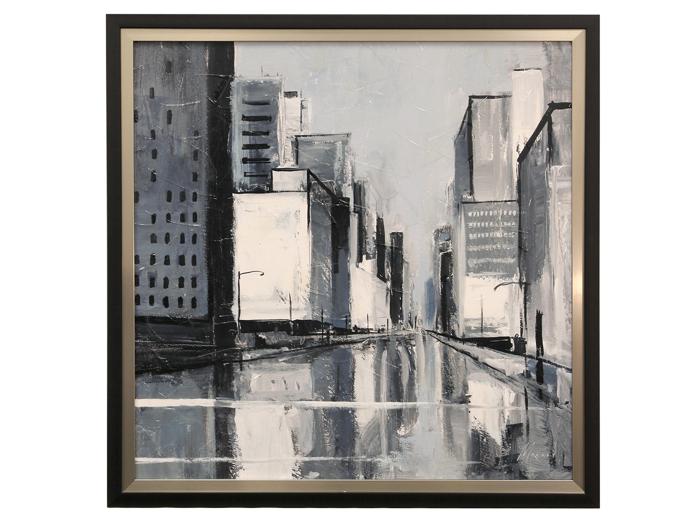 "City Streets I Framed Print 34""W x 34""H"