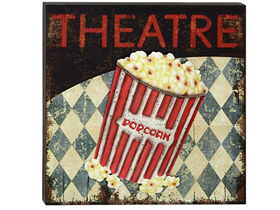 "Theater Wall Decor 20""W x 20""H"