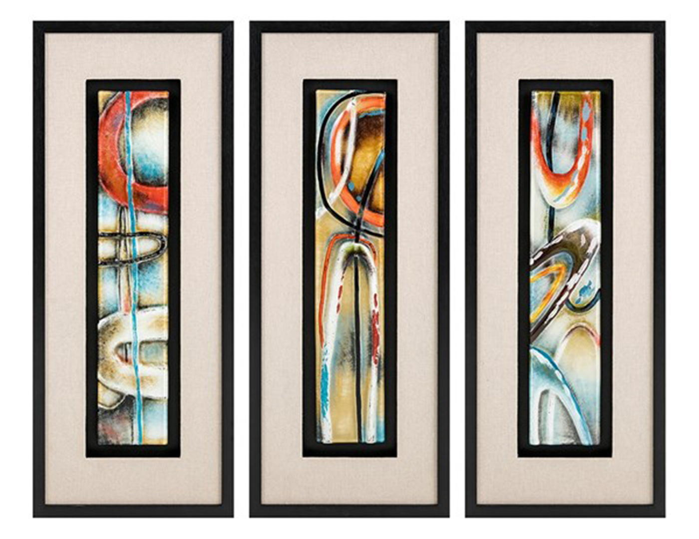 Assorted Reverse Painted Glass Art