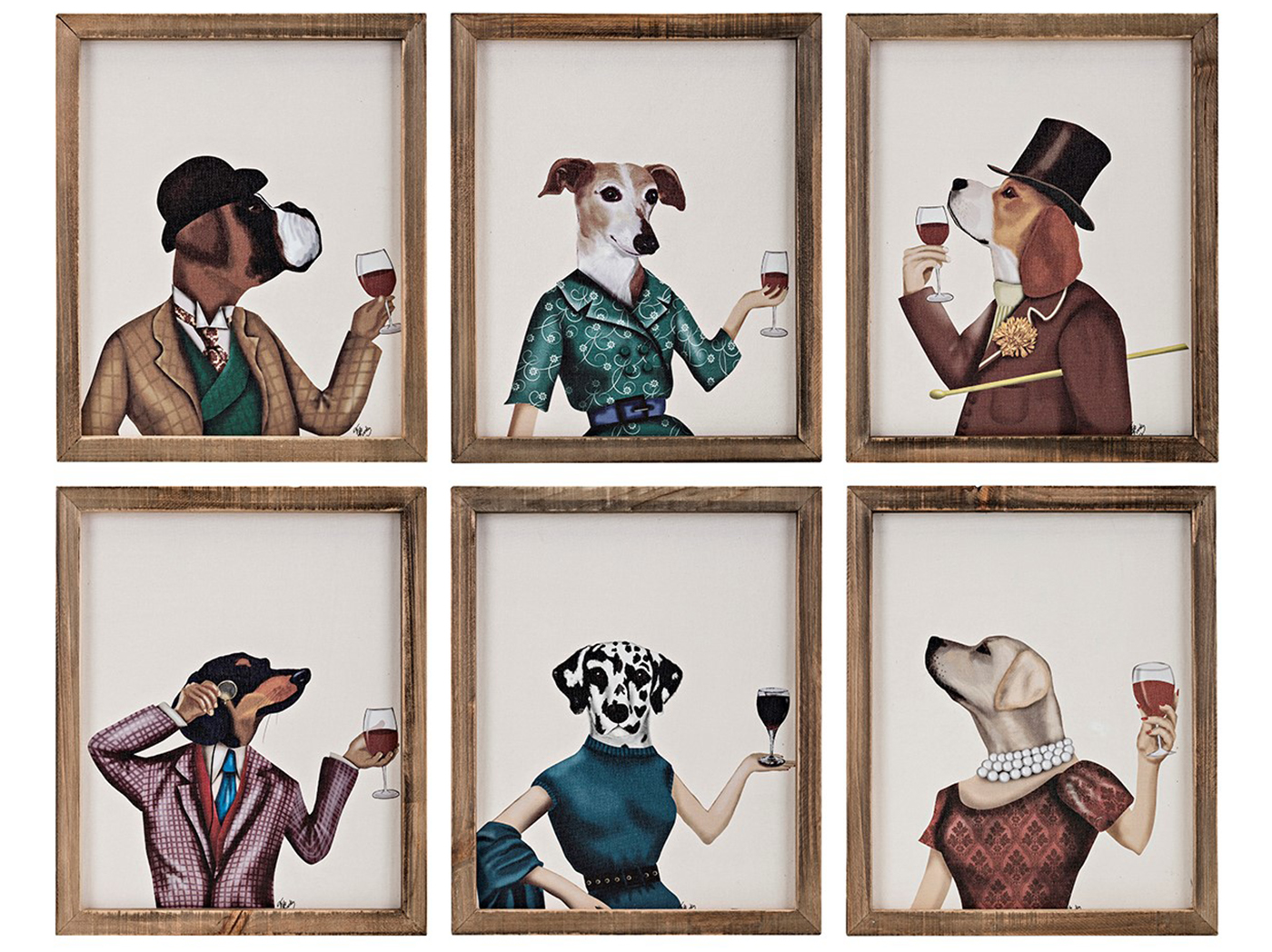 "Assorted Dog Cheers Wall Decor Each 10""W x 12""H"