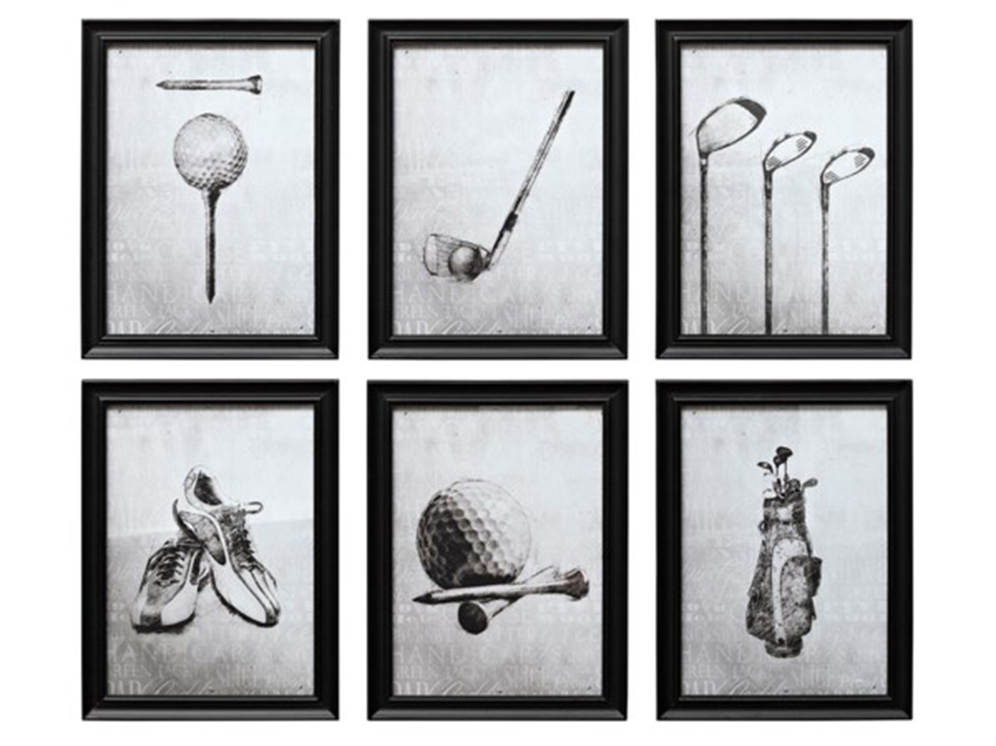 "Assorted Golf Wall Decor 12""W x 16""H"