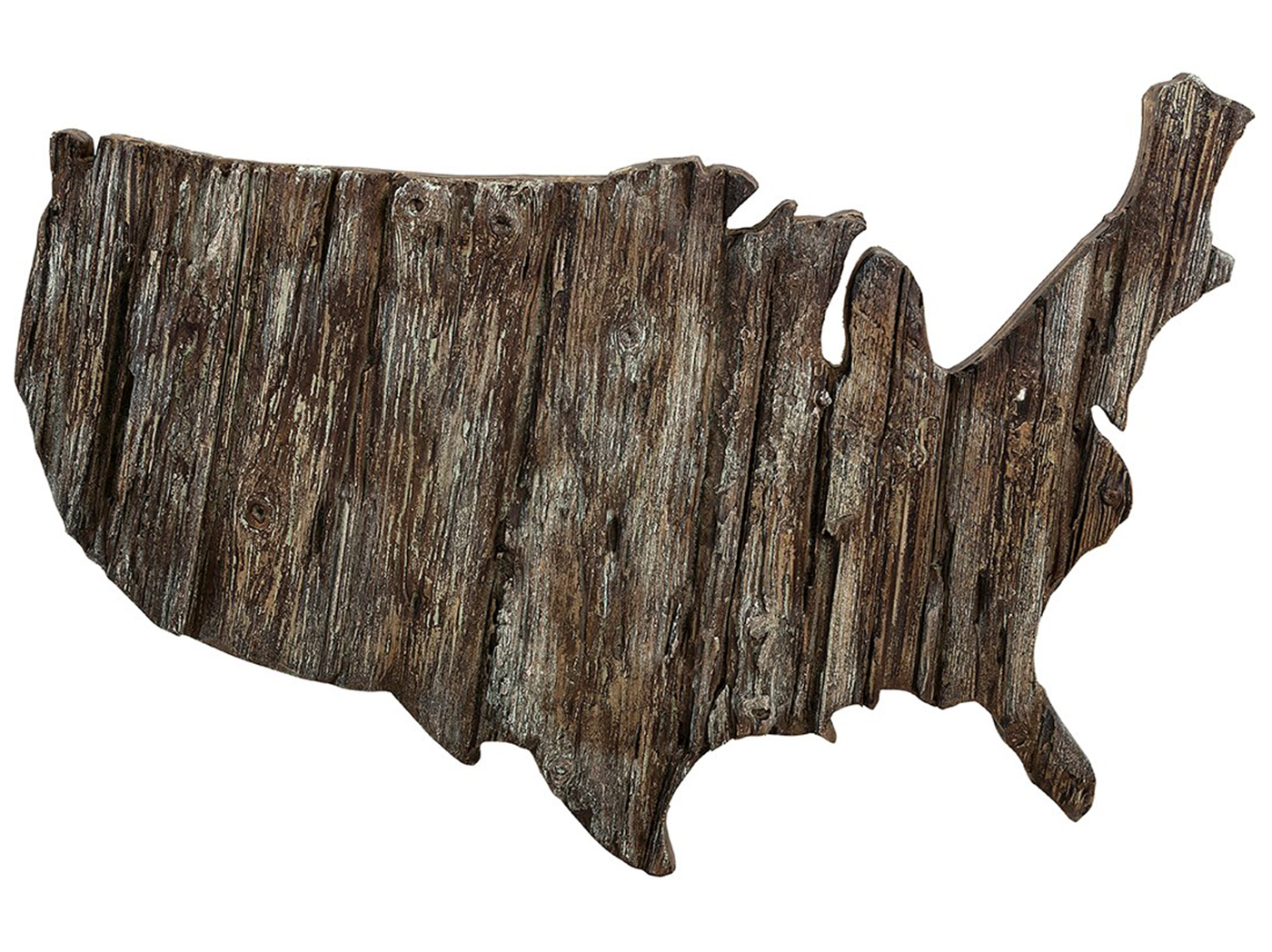 "Wood Look United States Wall Decor 46""W x 35.5""H"