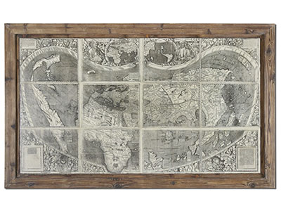 "Treasure Map Plaque 71""W x 2""D x 43""H"