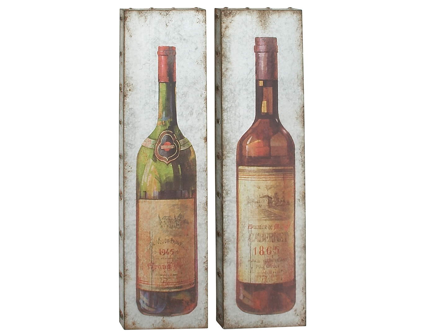 "Assorted Metal Wine Wall Decor Each 13""W x 47""H"