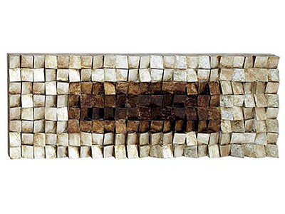 "Silver/Gold Blocks Wood Wall Art 63""W x 22""H"