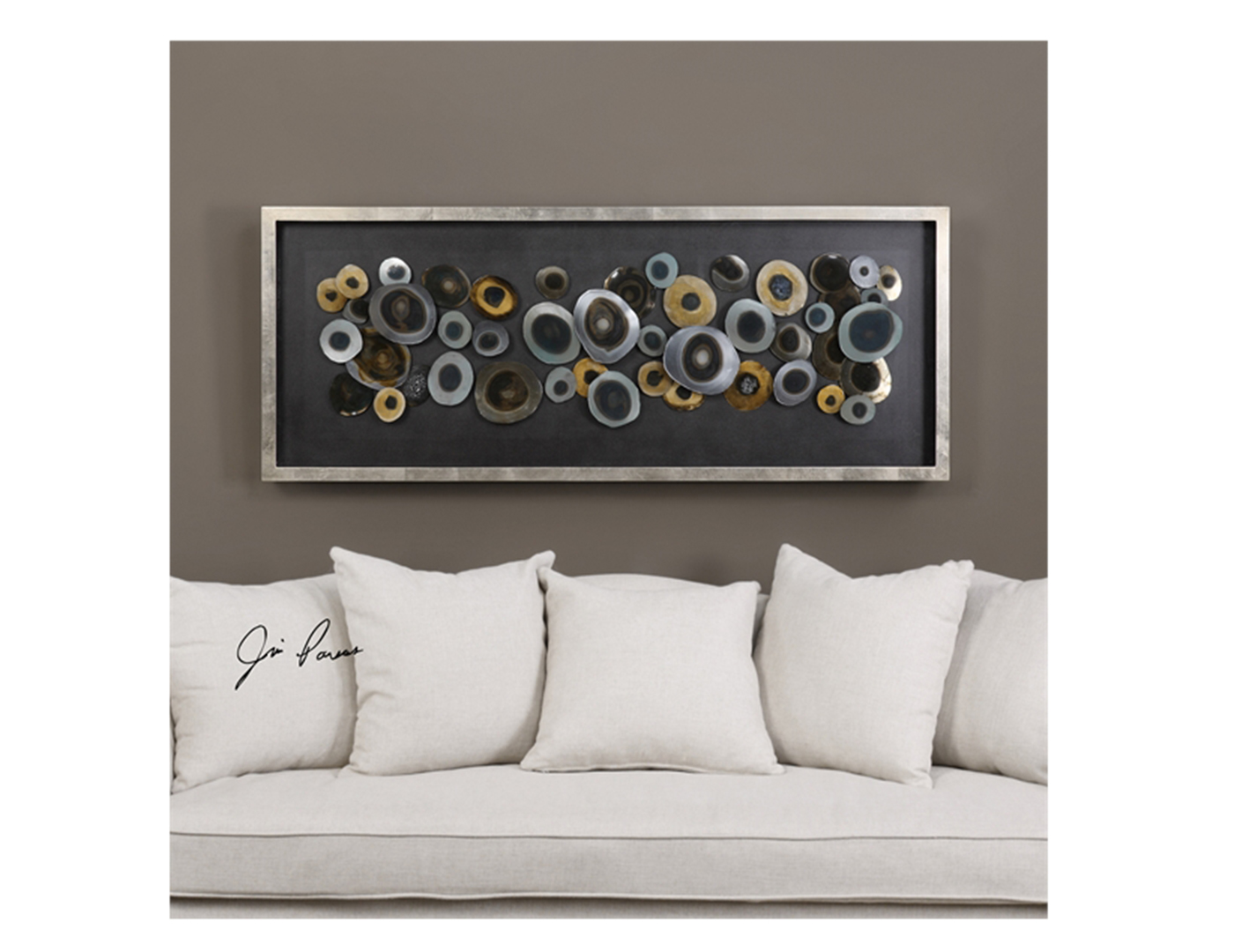 "Iron Disc Wall Art 62""W x 24""H"