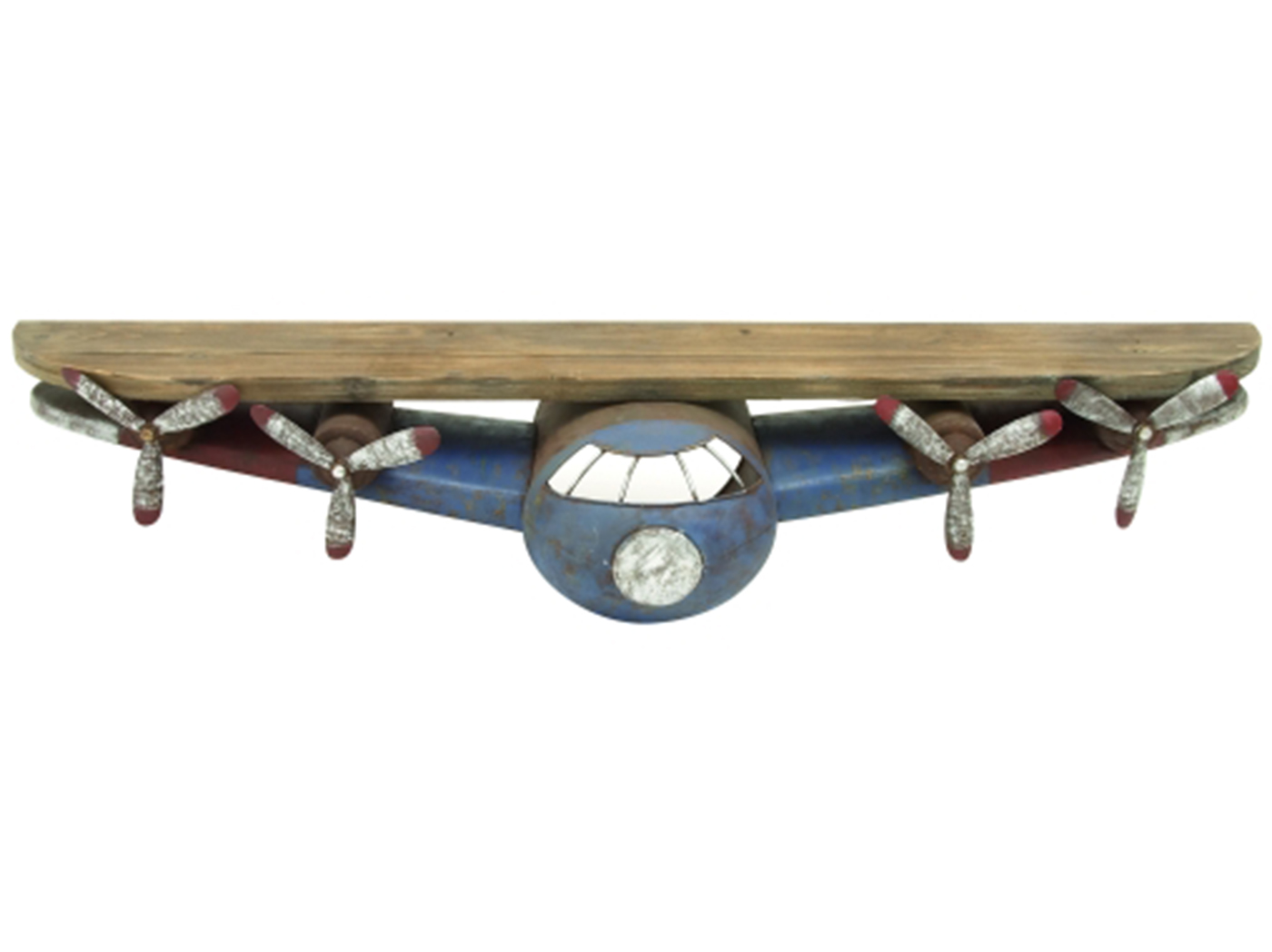 "Metal & Wood Airplane Shelf 43""W x 8""H"