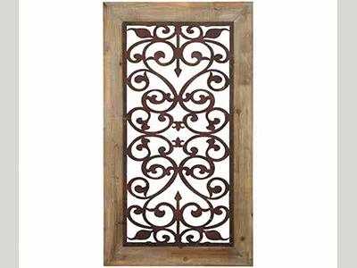 "Scroll Wall Plaque 26""W x 46""H"
