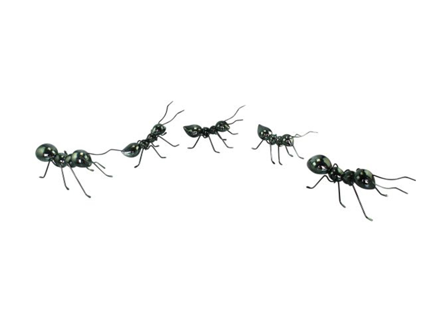 "Set of 5 Metal Ants Wall Decor Set 10""W x 4""H"
