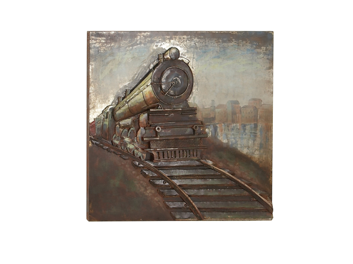 "Metal Train Wall Art 39""W x 39""H"