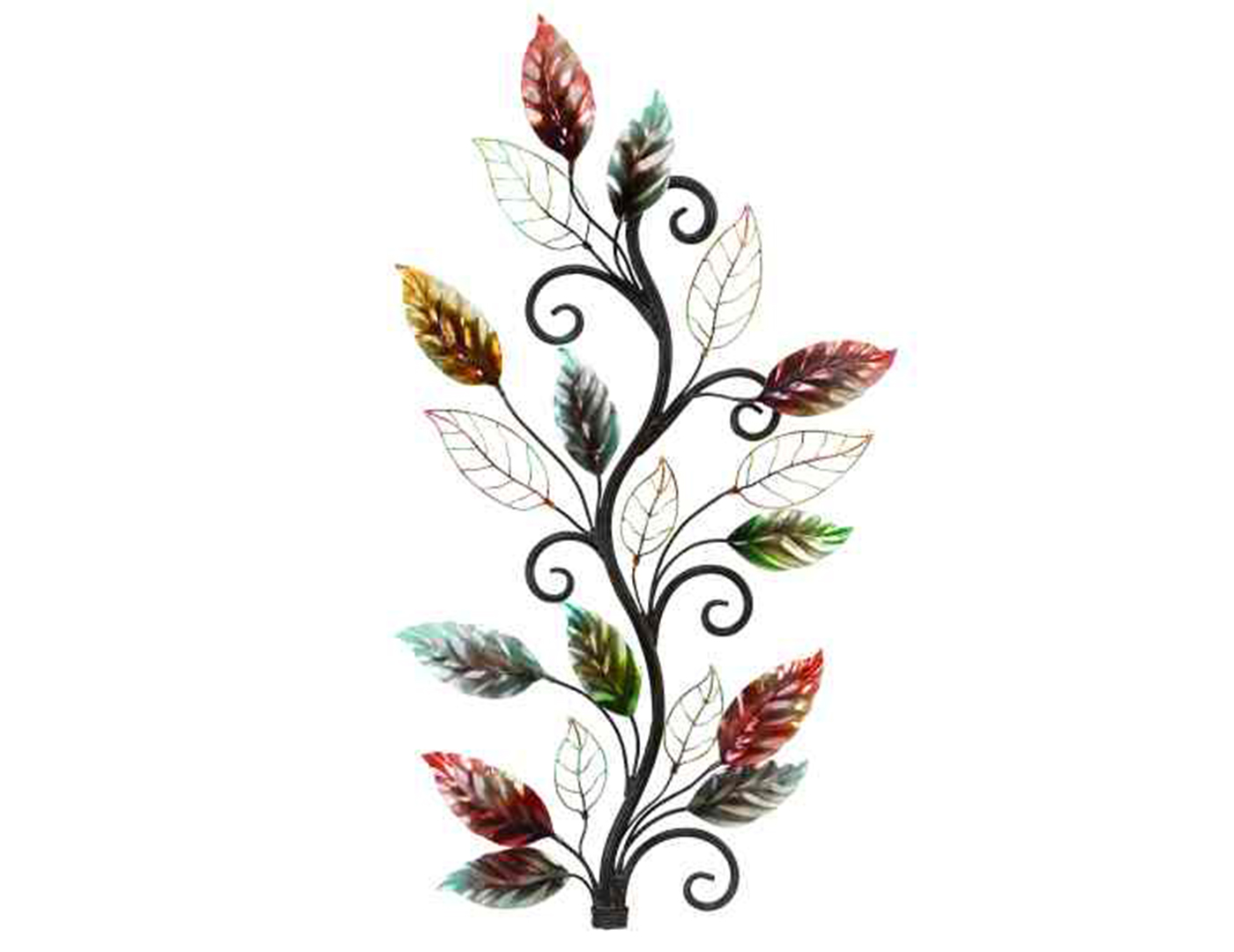 "Metal Leaf Wall Decor 20""W x 36""H"
