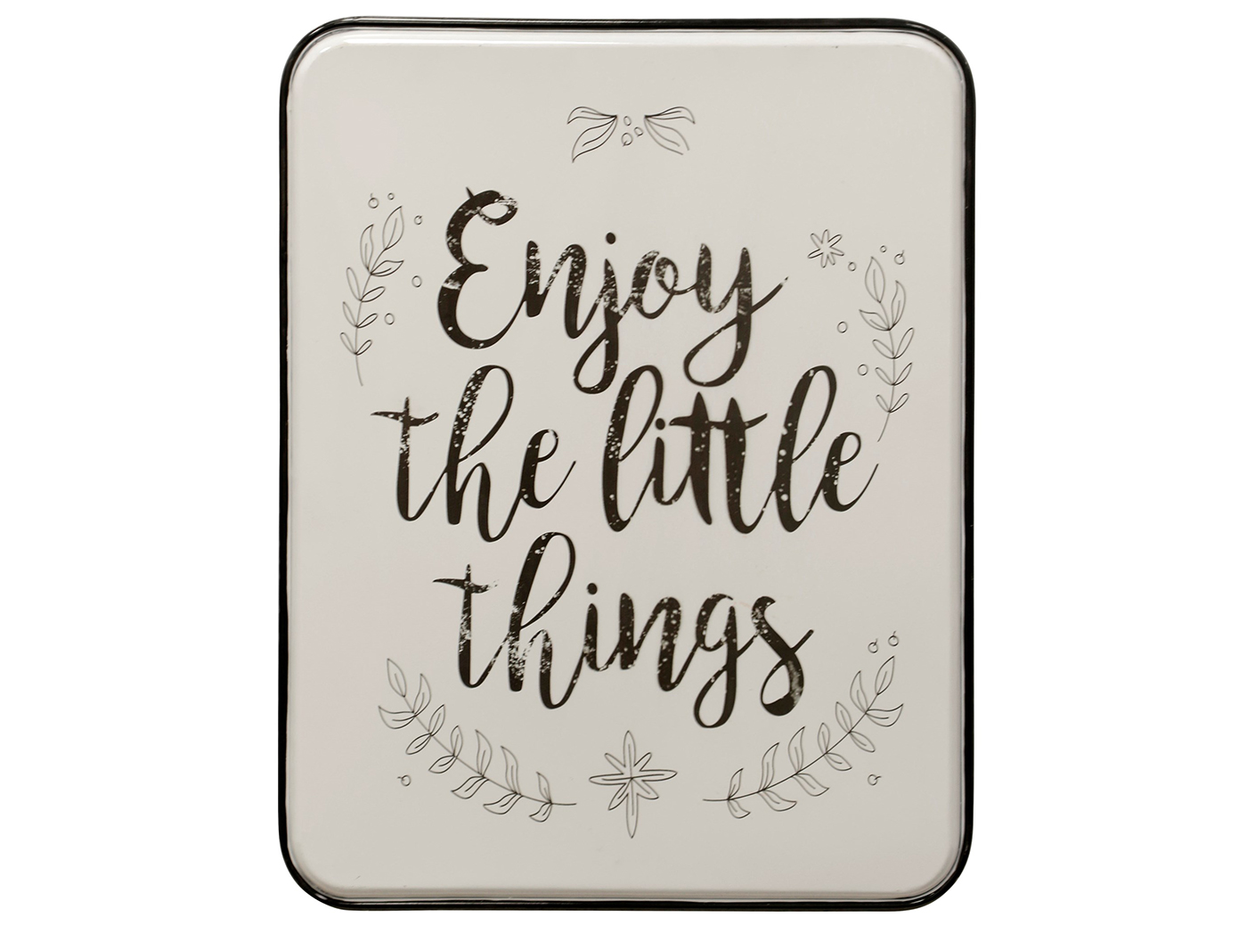 "Black and White The Little Things Wall Art 21""W x 27""H"
