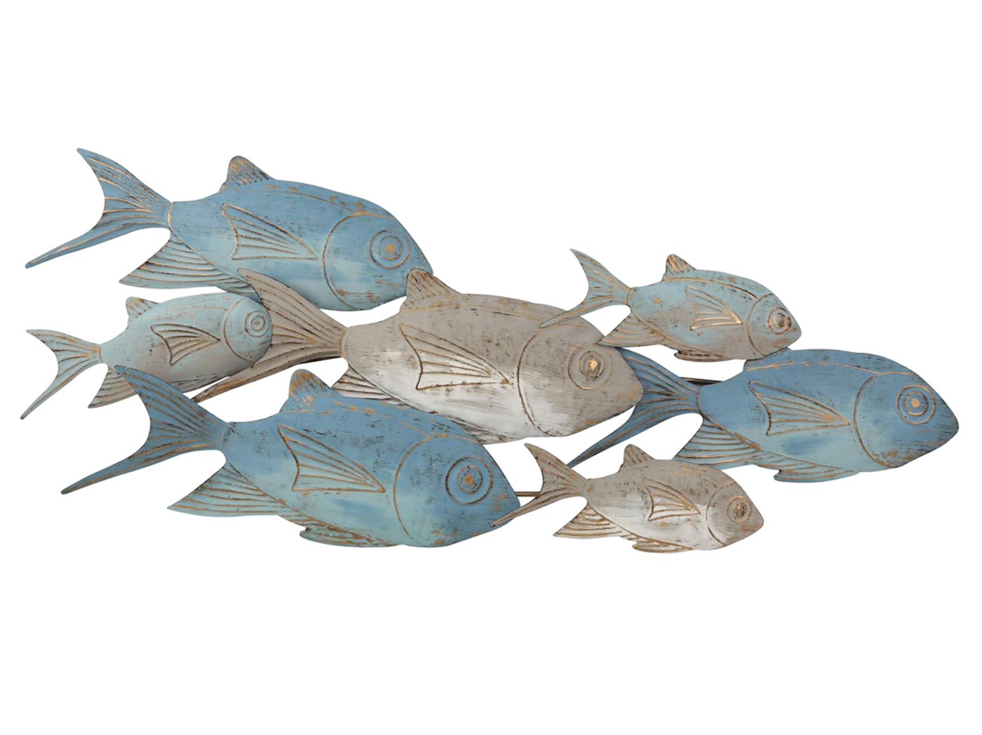 "School of Fish Metal Wall Decor 43""W x 19""H"