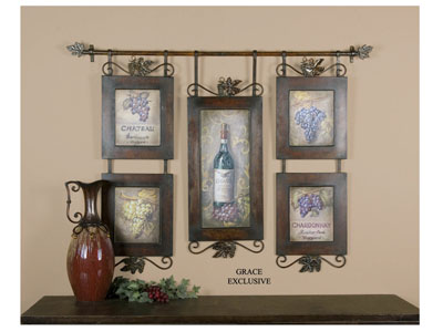 Hanging Wine Collage