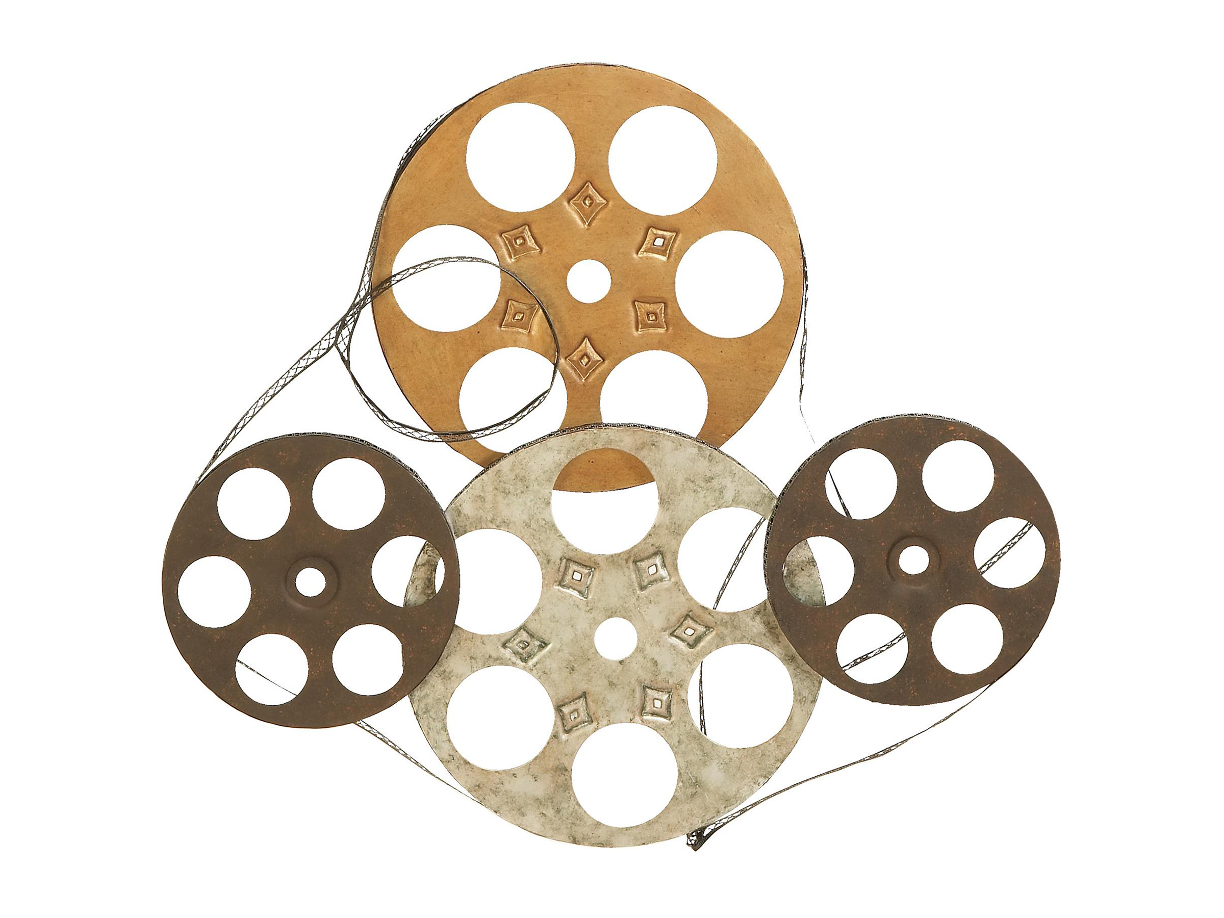 "Movie Reel Metal Wall Decor 25""W x 22""H"