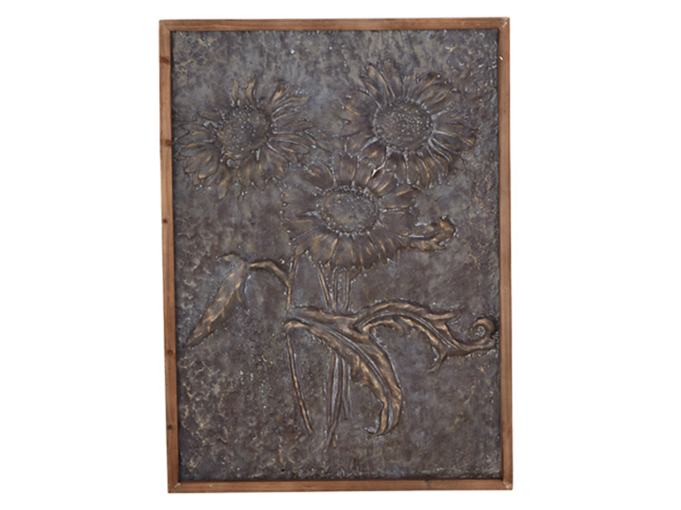 "Metal Sunflower Art 30""W x 40""H"