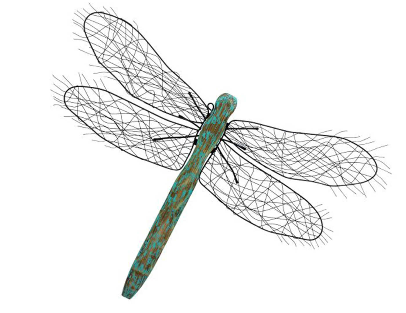 Steinhafels metal and wood dragonfly wall decor for Dragonfly mural