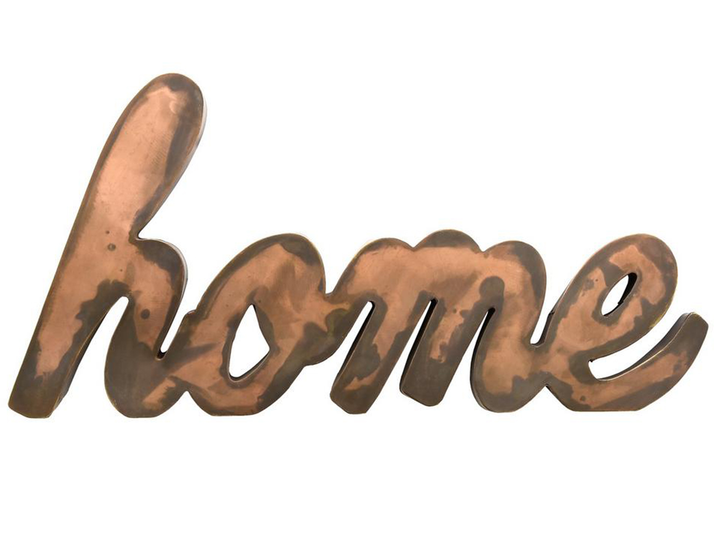 "Copper Metal ""Home"" Decor 21""W x 10""H"