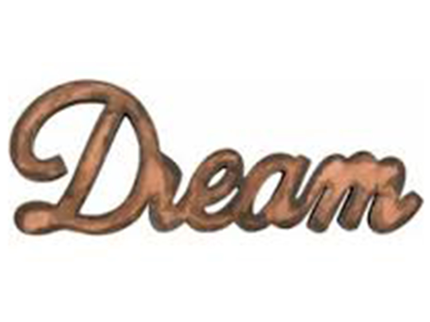 "Copper Metal ""Dream"" Decor 28""W x 11""H"