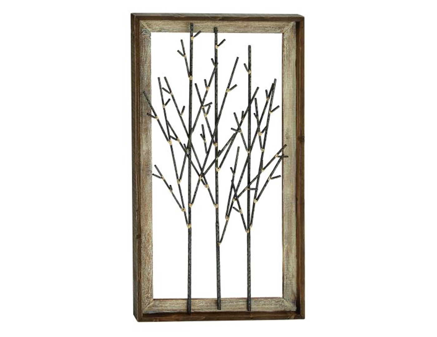 "Metal/Wood Trees Wall Decor 20""W x 36""H"
