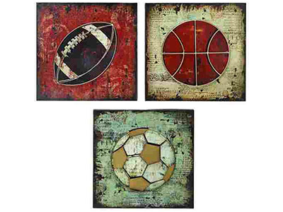 Assorted Sports Wall Decor