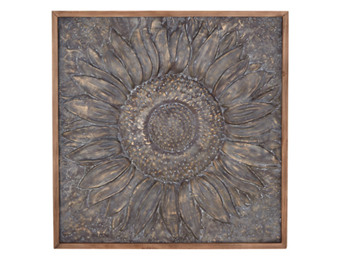 "Metal Sunflower Art 39""W x 39""H"