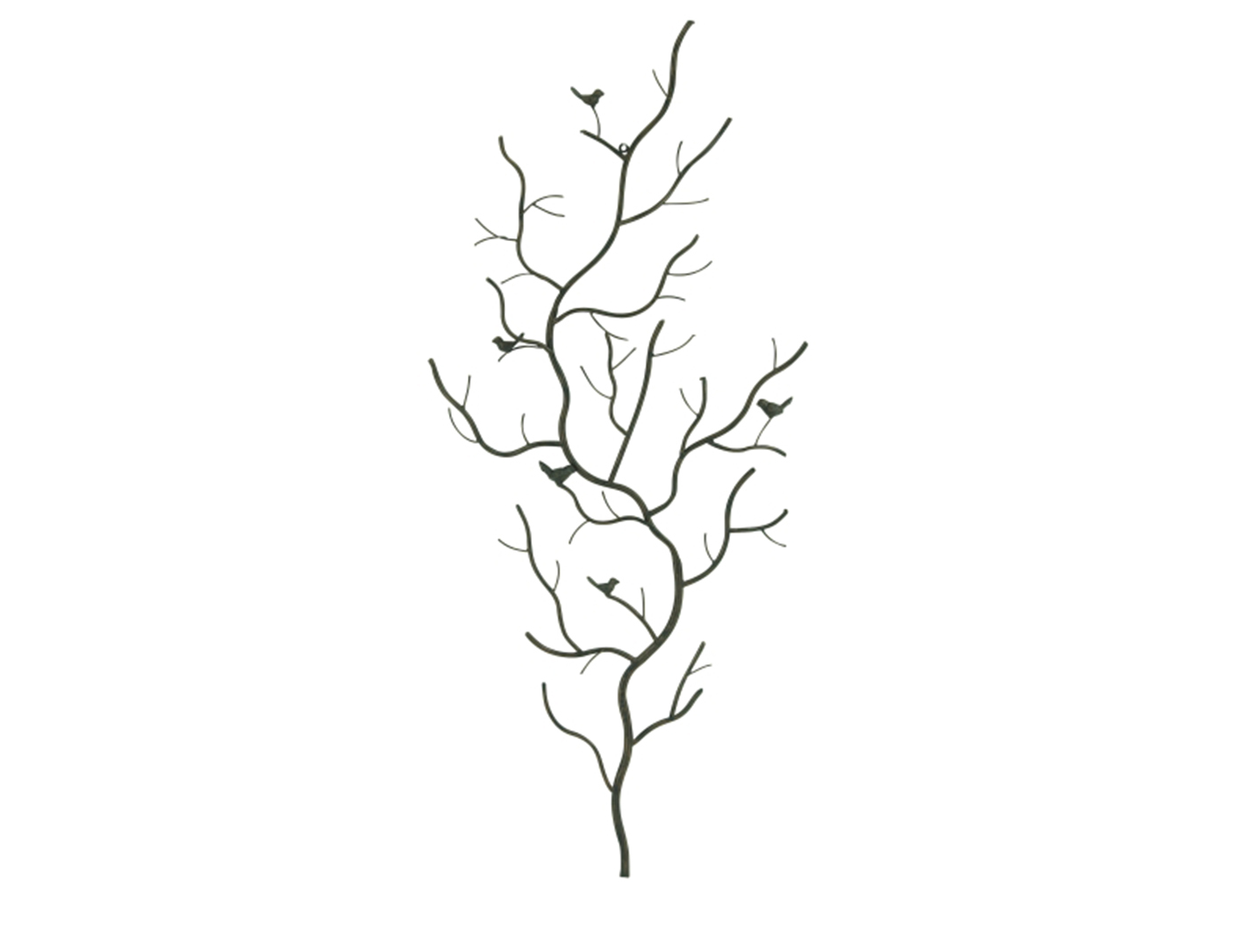 Metal Birds Branch Wall Decor 25 W X 58 H Steinhafels