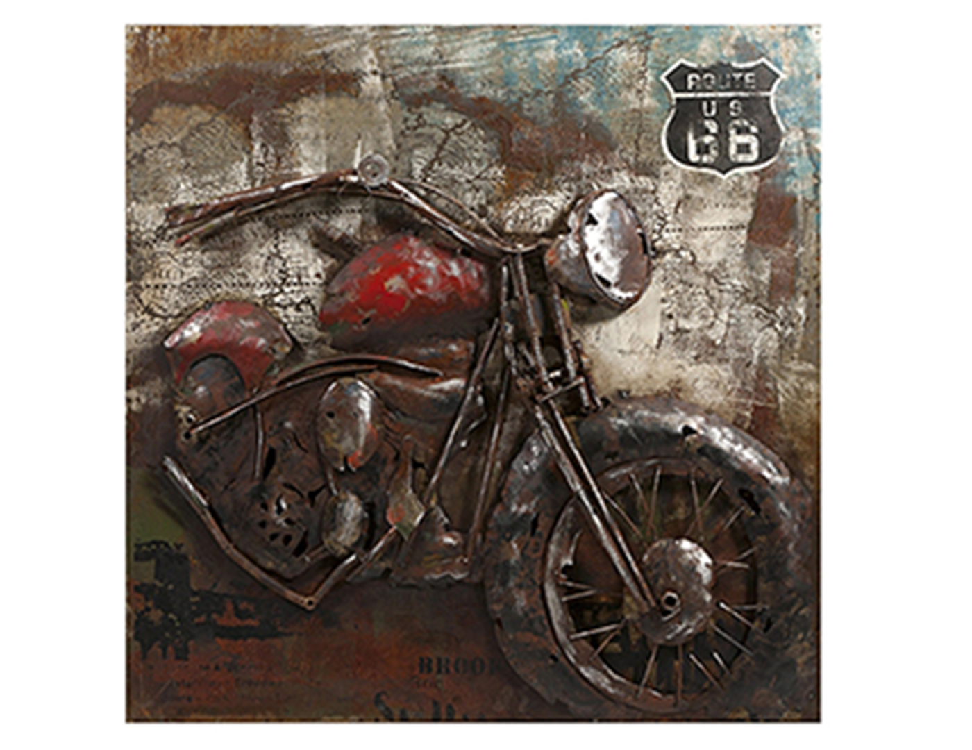 Etonnant Dimensional Motorcycle Wall Art