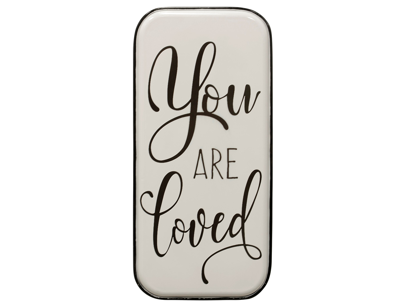 "Black and White You Are Loved Wall Art 15""W x 32""H"