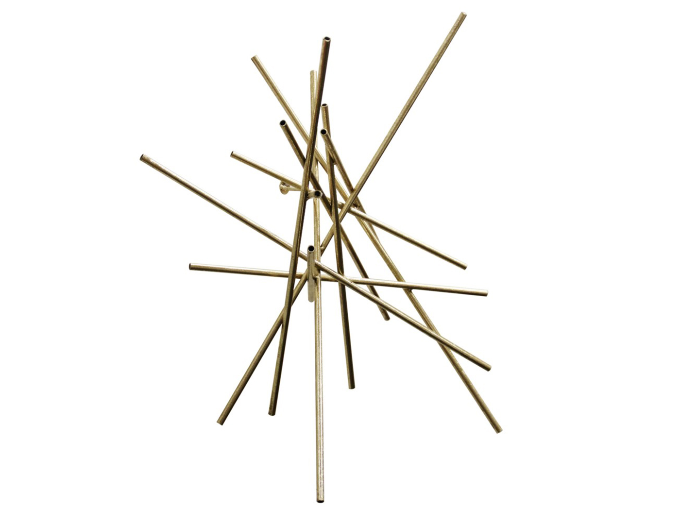 "Gold Metal Sticks Wall Decor 24""W x 24""H"