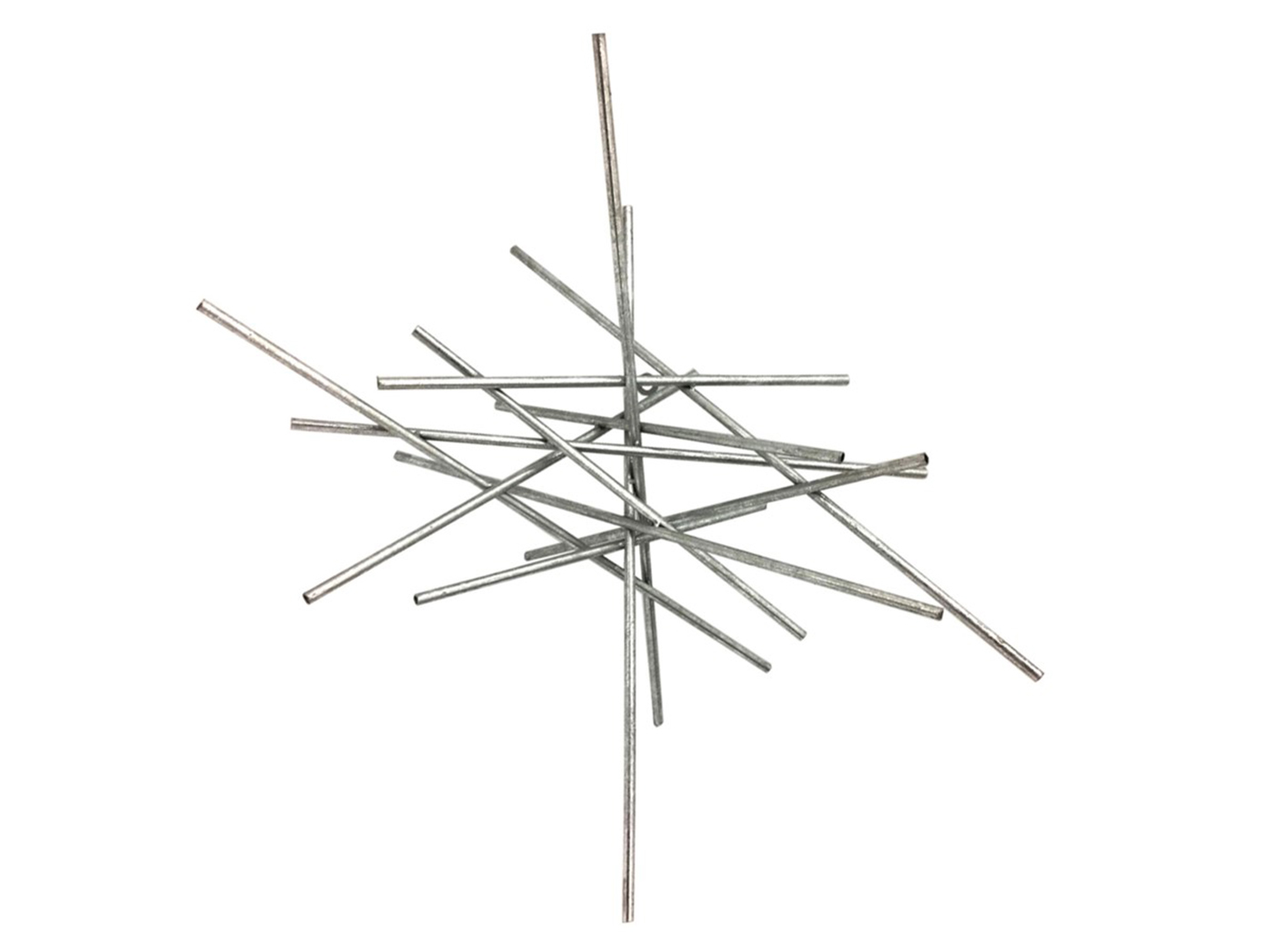 "Silver Metal Sticks Wall Decor 24""W x 24""H"