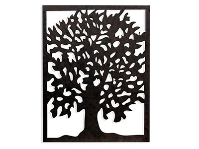 "Laser Cut Tree Art 39""W x 49""H"