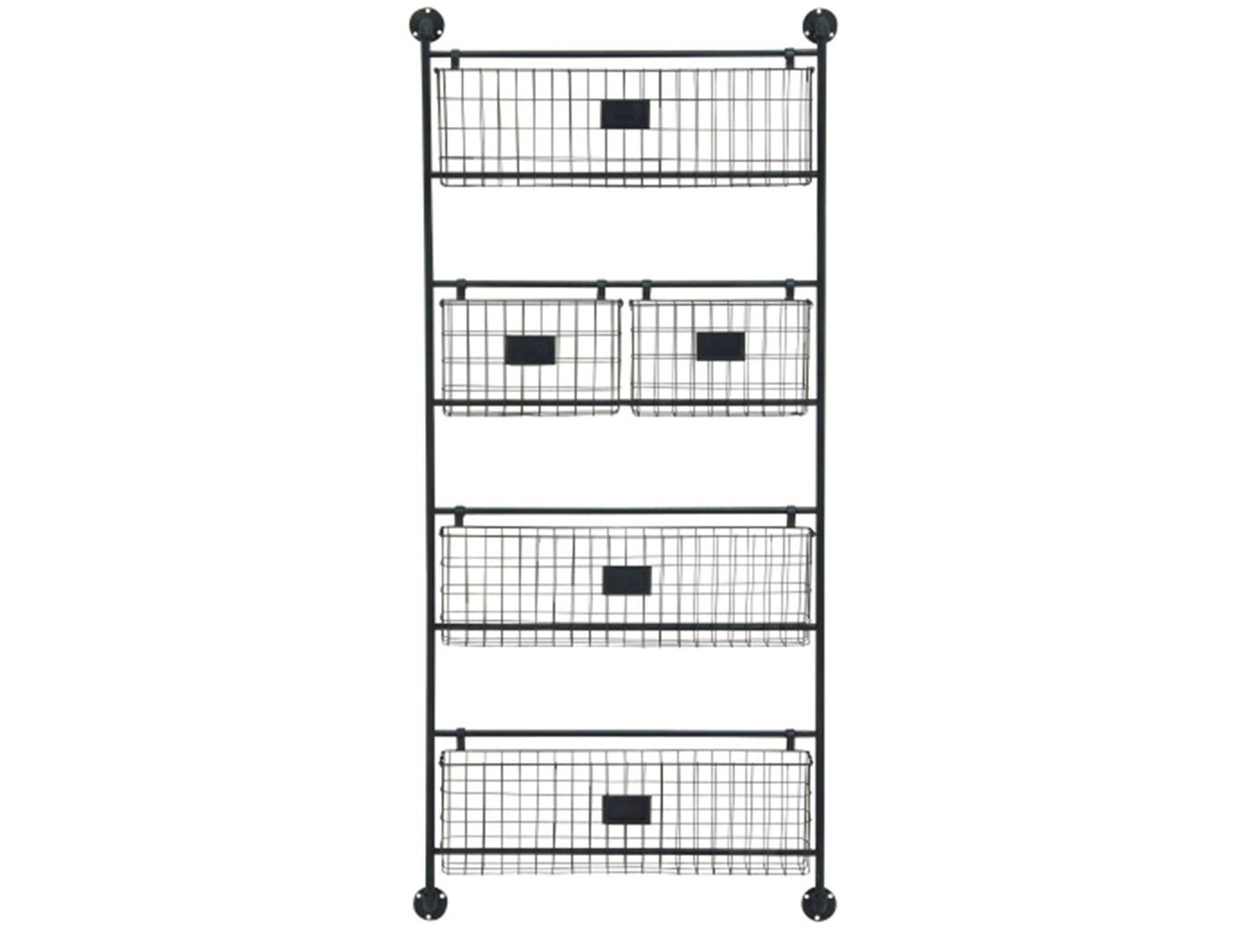 "Metal Baskets Wall Shelf 24""W x 61""H"