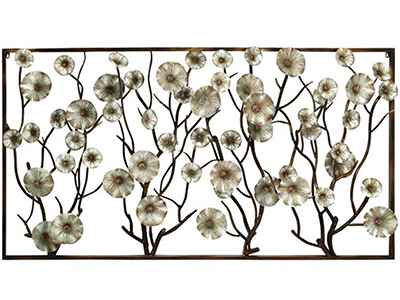 "Metal Flowers Wall Decor 72""W x 40""H"