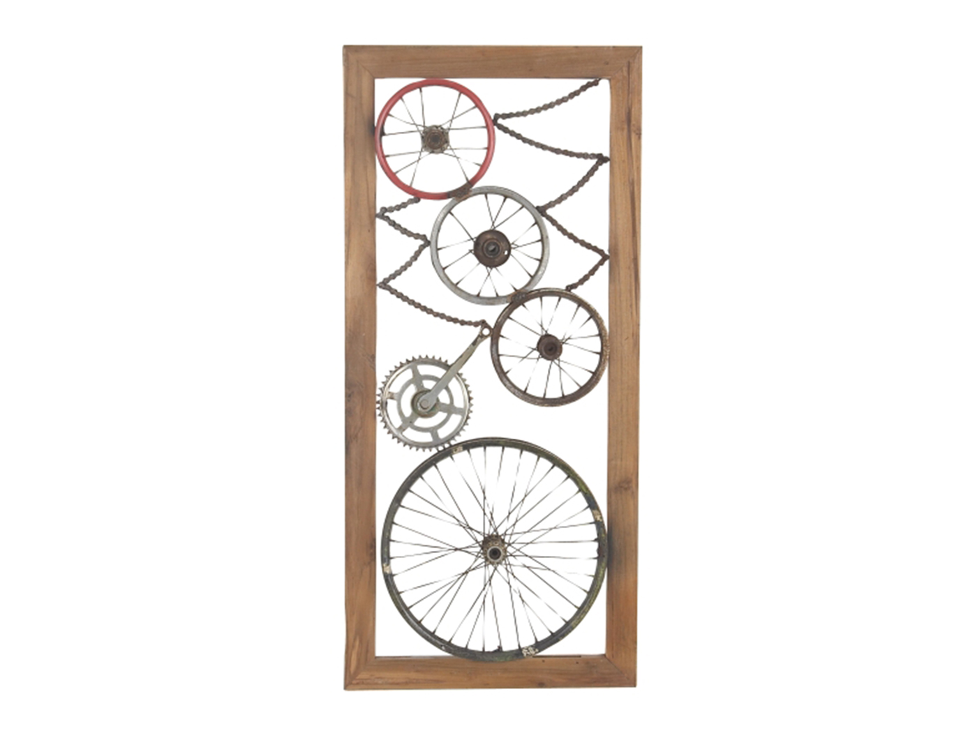 "Bike Wheels and Parts Wall Decor 22""W x 47""H"