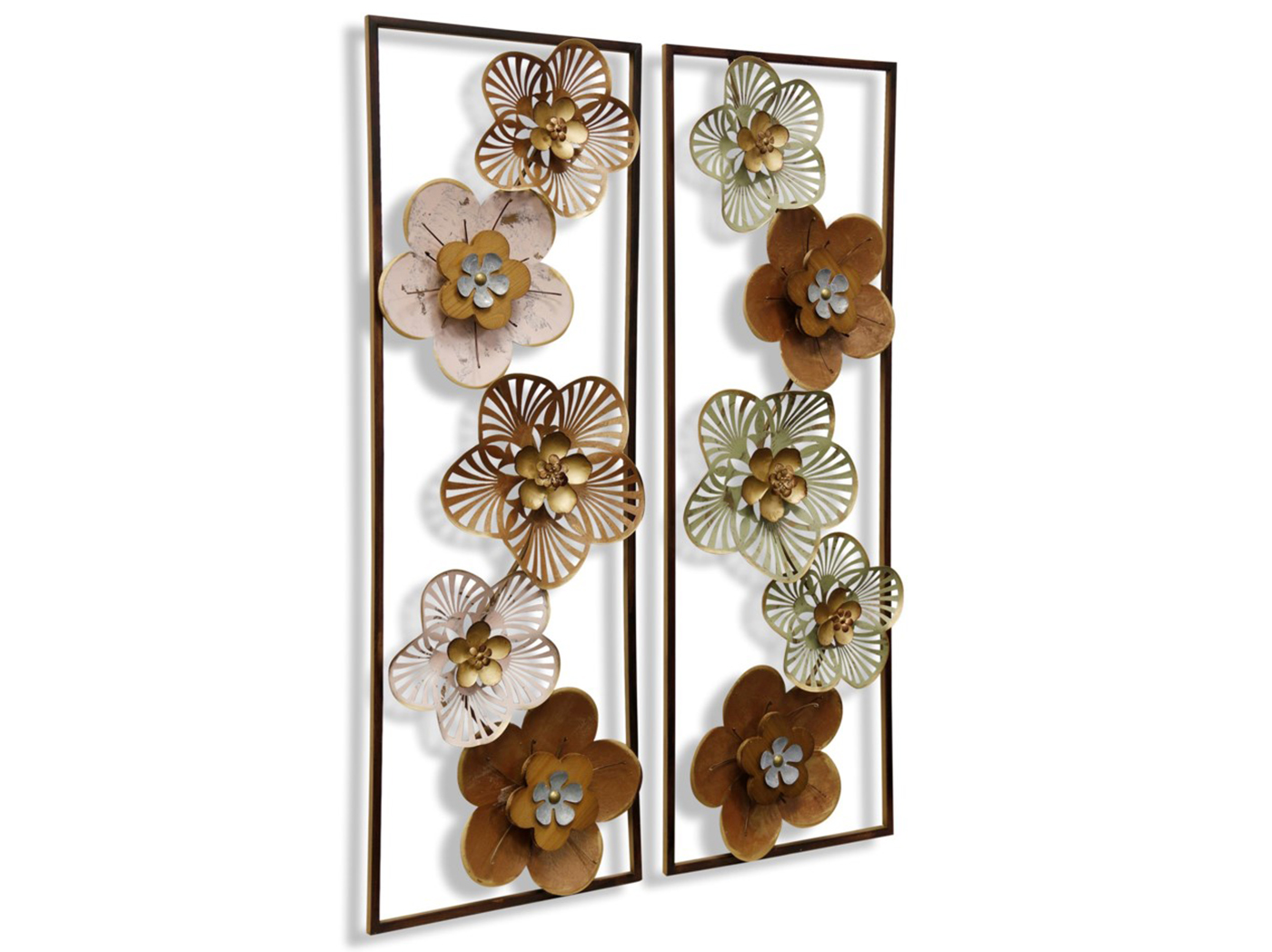 "Assorted Flowers Wall Art 12""W x 35""H"